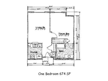 One Bedroom/1 Bath