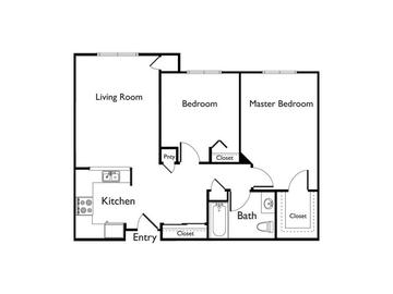 Two Bedroom/1 Bath